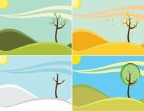 Quatre saisons Images stock