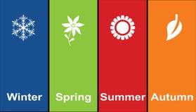 Quatre saisons images libres de droits