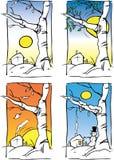 Quatre saisons Photographie stock