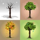 Quatre saisons Photo stock