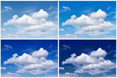 Quatre saisons de ciel Photographie stock