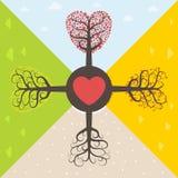 Quatre saisons de l'amour Photographie stock libre de droits