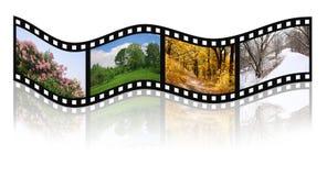 Quatre saisons jaillissent, été, automne, l'hiver Photo stock