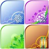 Quatre saisons - l'hiver, source, été, automne Image libre de droits