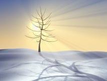 Quatre saisons série, l'hiver illustration stock