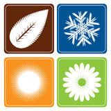 Quatre saisons - vecteur illustration de vecteur