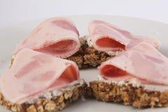 Quatre sandwichs au jambon Image libre de droits