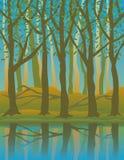 Quatre Seasons_Summer Illustration de Vecteur