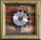 Quatre secondes sur l'horloge murale Photo stock