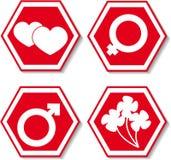 Quatre signes Photographie stock libre de droits