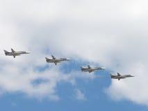 Quatre Su-24 dans Victory Parade Images libres de droits