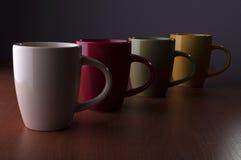 Quatre tasses Photographie stock