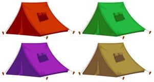 Quatre tentes colorées illustration stock
