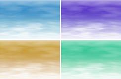 Quatre textures différentes illustration stock