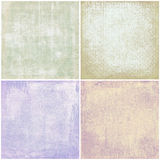 Quatre textures grunges Photos stock