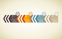 Quatre triangles de papier coloré avec l'endroit pour votre propre texte Photo libre de droits