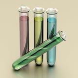 Quatre tubes à essai Photographie stock