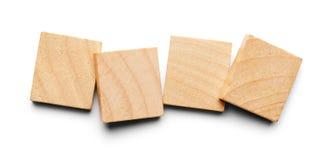 Quatre tuiles en bois Photographie stock