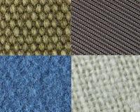 Quatre types différents de tissu Image stock