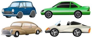 Quatre types différents de voitures illustration libre de droits
