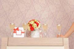 Quatre verres avec Champagne photo libre de droits