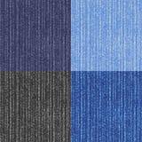 Quatre versions de la texture de jeans Images libres de droits