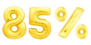 Quatre-vingt-cinq 85 pour cent d'or Photographie stock
