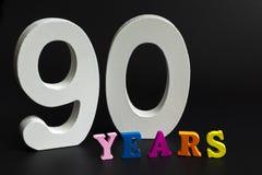 Quatre-vingt-dix années Photographie stock