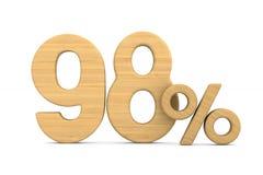 quatre-vingt-dix-huit pour cent sur le fond blanc Illustrati 3d d'isolement photos libres de droits