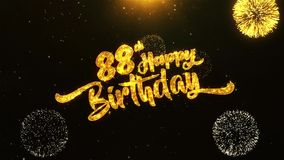 quatre-vingt-dix-huitième salutation des textes de joyeux anniversaire, souhaits, célébration, fond d'invitation banque de vidéos