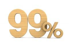 quatre-vingt-dix-neuf pour cent sur le fond blanc Illustratio 3D d'isolement photographie stock libre de droits