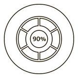 Quatre-vingt-dix pour cent d'infographics, style d'ensemble Illustration de Vecteur