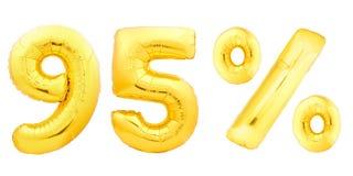 Quatre-vingt-quinze 95 pour cent d'or Image stock