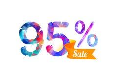 95 quatre-vingt-quinze pour cent de vente Images stock