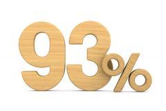quatre-vingt-treize pour cent sur le fond blanc Illustrati 3d d'isolement photos stock