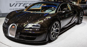 quatre-vingt-troisième Genève Motorshow 2013 - Bugatti Veyron Photographie stock