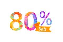 80 quatre-vingts pour cent de vente illustration libre de droits