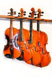 quatre violons Photo stock