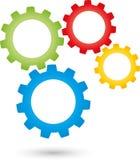Quatre vitesses, outils et logos de serrurier illustration de vecteur