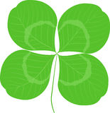 Quatrefoil叶子三叶草标志象 好运或圣帕特里克天标志 生态图象概念 免版税图库摄影