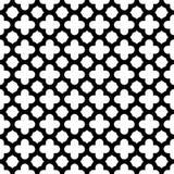 Quatrefoil bezszwowy deseniowy tło w czarny i biały Rocznik i retro abstrakcjonistyczny ornamentacyjny projekt Prosty mieszkanie ilustracji