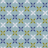 Quatrefoil pattern. Abstract flower pattern including seamless sample in swatch panel Stock Image