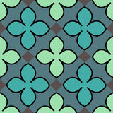 Quatrefoil pattern. Including seamless sample in swatch panel Stock Images