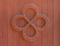 Quatrefoil Pattern on an Old Red Barn Royalty Free Stock Image