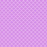 Quatrefoil Seamless Pattern. Graphic pink and white quatrefoil or trellis design Stock Photo
