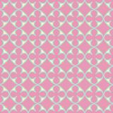 Quatrefoil seamless vector repeat pattern in yellow, green and pink stock illustration
