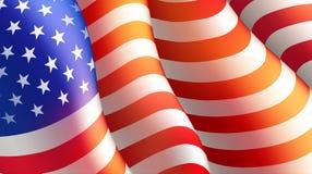 Quatrième d'affiche de Jour de la Déclaration d'Indépendance de juillet ou de calibre de carte avec le drapeau américain Illustra illustration de vecteur