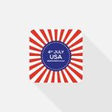 Quatrième d'icône des Etats-Unis d'Amérique de Jour de la Déclaration d'Indépendance de juillet Images libres de droits