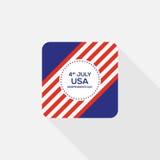 Quatrième d'icône des Etats-Unis d'Amérique de Jour de la Déclaration d'Indépendance de juillet Images stock