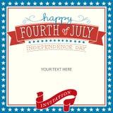 Quatrième d'invitation de juillet illustration stock